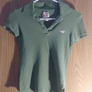Hollister Army Green xs polo
